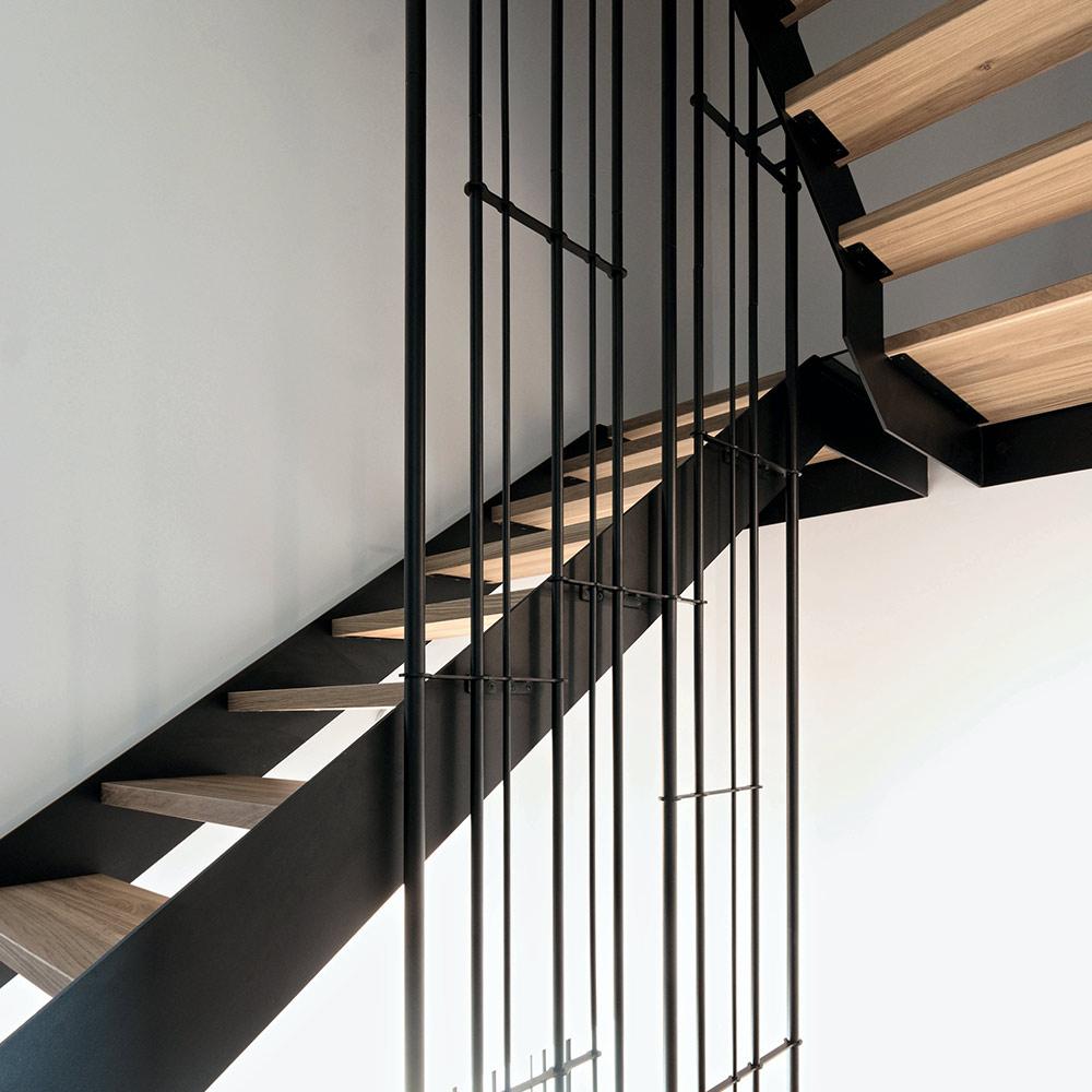schody Bielsko stalowo drewniane