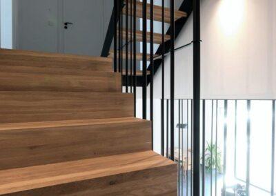 schody Bielsko stalowo dębowe